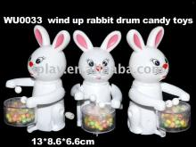 Candy toy,  novelty  toy, wind up rabbit hot selling gift