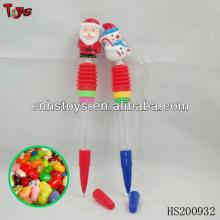 Whistle santa claus /snow man pen toy candy