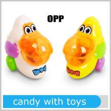 Best Toys For 2014 Promotional Pull Back Animals Duck Candy With Toys For Sale