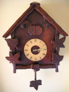 craft wood cockoo clook