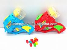 bubble flying saucer gun kids candy toys from China H104569