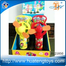 2014 Kids happy plastic china toy electric desk fan candy toys for kids H121850