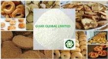 Guar gum powder for baked food products