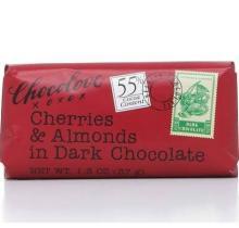 Chocolove Cherries & Almonds in Dark Chocolate, 55% Cocoa - 1.3 oz bar