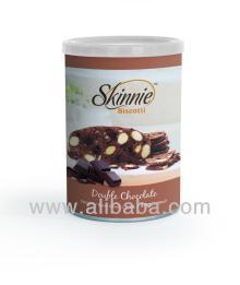 SKINNIE Biscotti: Double Chocolate