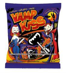 66115 Vamp Kiss Raspberry - Flat Lollipop with Icing Tongue Tattoo