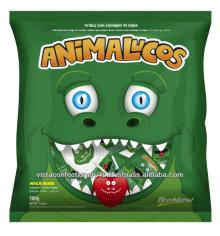 66871 - Animalucos Crocodile - Flat lollipop with icing tongue tattoo
