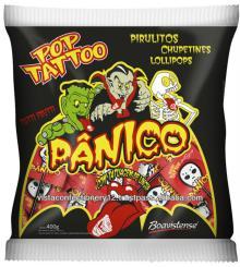66049 Pop Tatto Panico - Flat lollipop with icing tongue tattoo