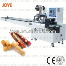 Widely Using Different Kinds of Egg Roll Biscuit Flow Packing  Machine  JY-300/DXD-300