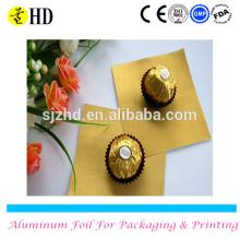 Colored aluminum  wrapping   foil  for Chocolate bar with good quality