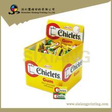 Custom  corrugated carton paper chewing gum pallet display case