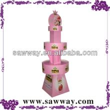 Two Tiers  Round  Cardboard POP Display Stand For Lollipop