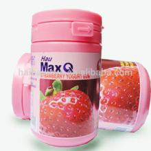 your brand printing chewing gum bottle strong adhesive label
