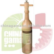 Wooden  Pepper Mill in Wine Bottle Shape