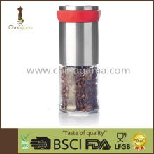 SS manual simple black pepper grinder