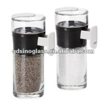 SINOGLASS 2pcs measurable Cylinder glass salt and pepper set