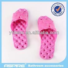 Color ful cinnamon  wood  slippers