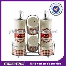 2014 kitchen black ceramic salt and pepper  set