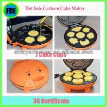 2013 Hot Sale Updated DIY 7 Cakecups Cute Cartoon Household Cake Maker