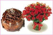 Cake & Flower Combo1 (1 KG)