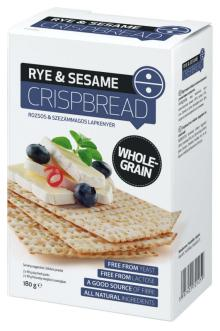 WHOLE GRAIN RYE & SESAME CRISPBREAD