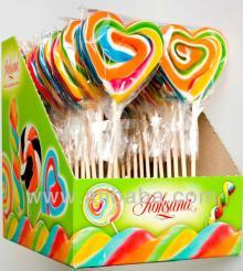 Sweetheart hard candy lollipops 60g (21 cm!)
