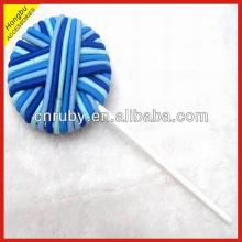 Solid Color Hair Rubber Lollipop