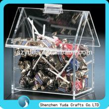 2014 new clear lollipop container  house  shape acrylic candy  box  hot sell