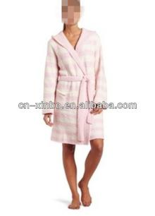 Women  s Marshmallow Hooded Wrap Robe