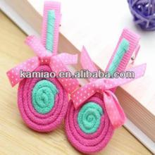 2014 kids lollipop  hair  bow fancy  hair  accessories claw clips