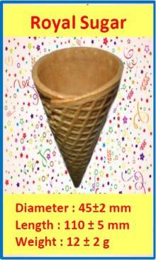 Rolled Sugar Cone - Royal Sugar Cone