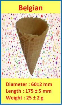 Rolled Sugar Cone - Belgian Cone