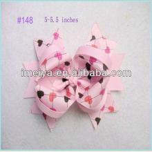 Baby Girl Cute Sweet Heart Lollipops Printing Boutique Hair Bow