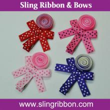 Lollipop Ribbon Flower With Double Prong Aligator Hair Clips