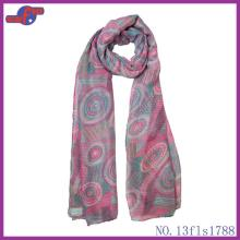 LIGNT PURPLE ROUND COLORFUL LOLLIPOP PRINTED POLYESTER SCARF
