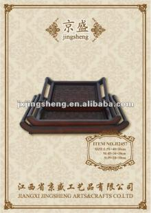 Exquisite wood chocolate tray with handles