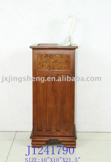 Wooden and cinnamon square umbrella holder stands