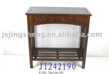 Wooden and cinnamon antique side table