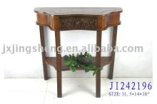 Antique brown wooden and cinnamon dressing table with storage drawers