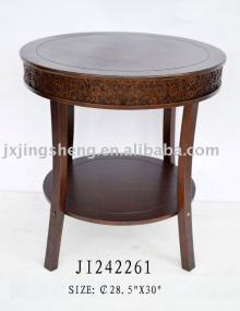 Wood en and cinnamon folding round coffee table  wood  dinner table