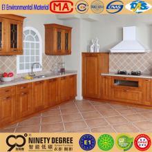 Delicate design latest dark chocolate melamine kitchen cabinet