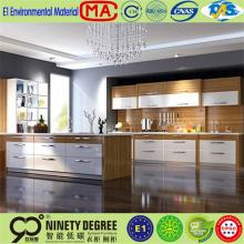 luxury interior decorative quality dark chocolate melamine kitchen cabinet