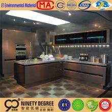 professional manufacture quality dark chocolate melamine kitchen cabinet