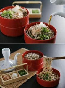 broth Organic Izumo buckwheat noodles