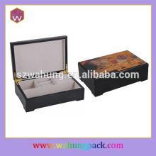 new  design  custom solid cinnamon  wood  box for luxury gift