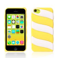 2014 marshmallow  silicone   case  for iphone 5C Yellow-1549