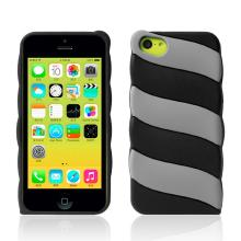 2014 marshmallow silicone case for iphone 5C Black-1546