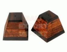 Homeware Salt and Pepper Shaker Pyramid Cinnamon