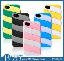 For iPhone 5S Silicon Case,3D Marshmallow Style Cover Case for iPhone 5 5S