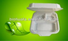 """9""""3 seperator clamshells(corn starch), take out food container"""